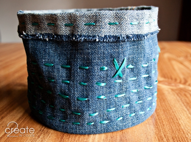 Running Stitch on denim